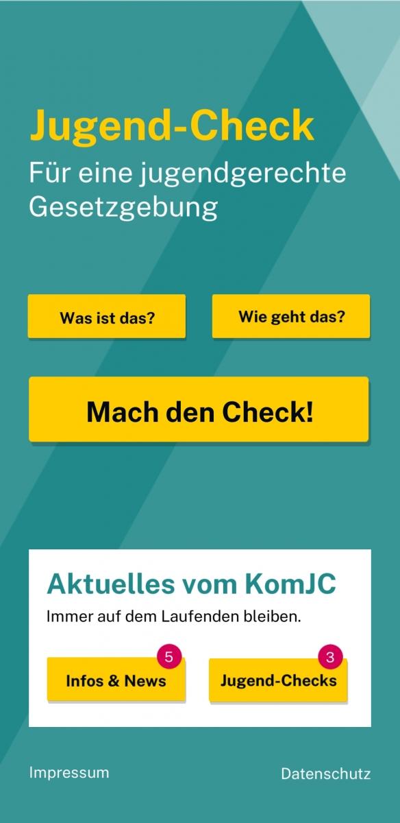 Startseite der Jugend-Check App